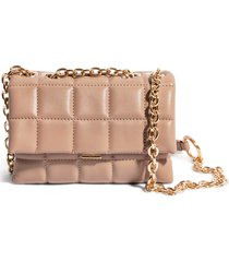 house of want small how we slay vegan leather shoulder bag - beige