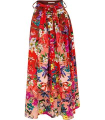 forget me not floral skirt