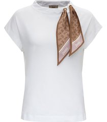 herno jersey t-shirt with scarf ddetail