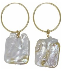 roberta sher designs 14k gold filled baroque natural pearl drop earring