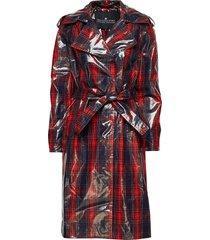 blaine coat trench coat rock röd designers, remix