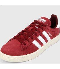 tenis lifestyle vinotinto-blanco adidas originals campus shoes
