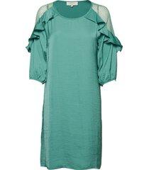 carlie dress kort klänning grön cream