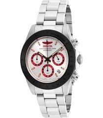 reloj invicta acero modelo 173hk para hombres, colección speedway