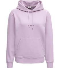 saint laurent lilac jersey hoodie with logo
