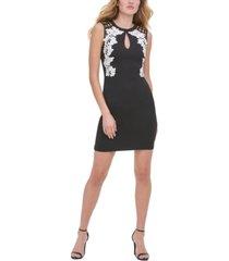 guess cutout-back floral sheath dress