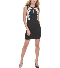 guess cutout-back floral sheath dress