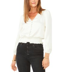 28th & park juniors' jeweled button top