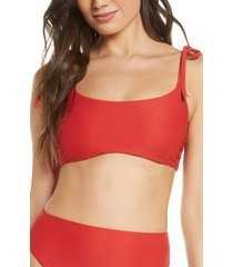 women's chelsea28 easy retro bikini top, size xx-large - red