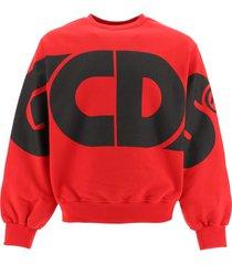 gcds round tee sweatshirt maxi logo