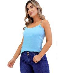 blusa básica de seda con tiras menta unipunto 32373