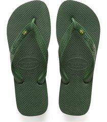sandalias havaianas verde brasil