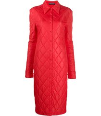 kwaidan editions quilted midi dress - red