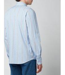 a.p.c. men's anthony shirt - blue - xl