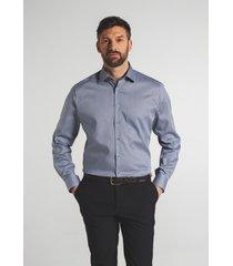 eterna heren overhemd micro print borstzak modern fit