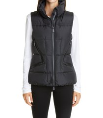 women's moncler grenoble atka water resistant down puffer vest, size 00 - black