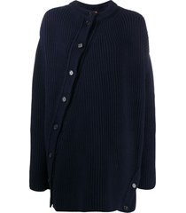 colville twisted oversized wool cardigan - blue