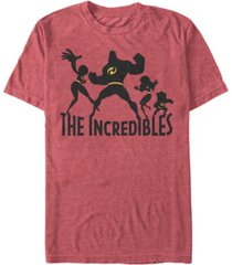 disney pixar men's incredibles family silhouette short sleeve t-shirt
