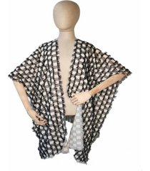 fraas checked fringe wrap