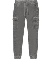 pantaloni in velluto con elastico in vita regular fit  straight (grigio) - rainbow