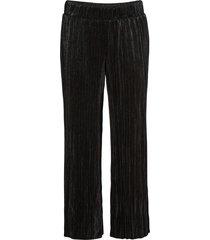 pantaloni lucidi plissettati (nero) - bodyflirt