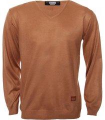 sweater camel redskin escote v