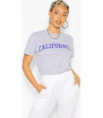 california slogan oversized t-shirt, grey marl