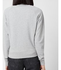 maison kitsuné women's fox head patch sweatshirt - grey - xs