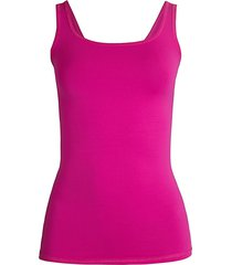 theory women's len tubular stretch jersey tank top - magenta