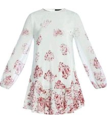 bailee long sleeve flounce hem dress sfp64d65-4d6