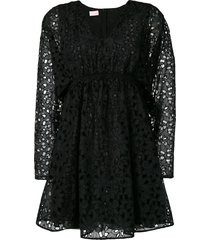 giamba babydoll dress - black