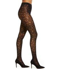 women's natori leopard net tights