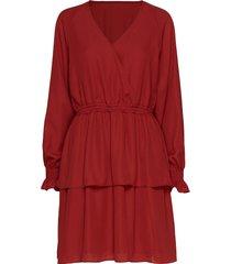 byron wrap dress kort klänning röd designers, remix