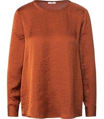 shirt lange mouwen en ronde hals van peter hahn oranje