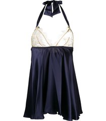 gilda & pearl isadora babydoll slip dress - blue