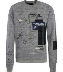 dsquared2 patched cool sweatshirt