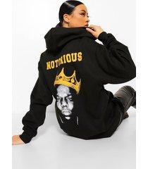 gelicenseerde notorious big hoodie met rugopdruk, black