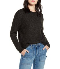 women's bp. marl pullover sweater, size large - black