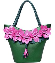 brenice secchio per decorazione fiore in pelle borsa sling stile nazionale borsa per le donne
