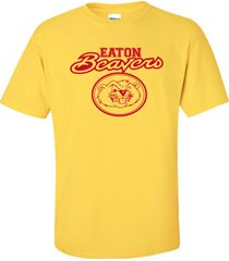 eaton beavers college drinking party sexy funny men's tee shirt