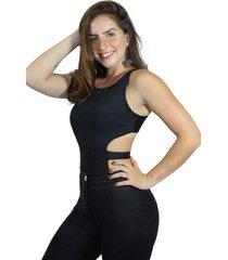 body racy modas alcinha costa nua com faixa preto