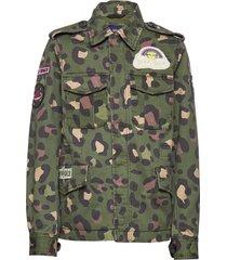 k. army jacket outerwear jackets & coats denim & corduroy groen svea