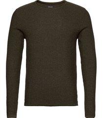 jprblucarlos knit crew neck noos stickad tröja m. rund krage grön jack & j s