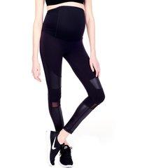 women's ingrid & isabel moto maternity leggings, size small - black