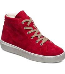 woms boots höga sneakers röd tamaris