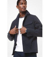 mk giacca a camicia utility in cotone - notte (blu) - michael kors
