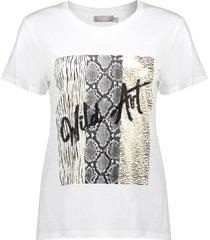 """geisha 12111-41 010 t-shirt """"wild art"""" s/s off-white/gold"""
