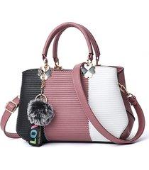 borsa da donna con cuciture a pallina color panna tote borsa crossbody borsa