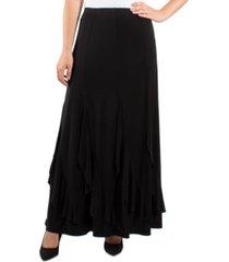 ny collection ruffle-hem maxi skirt