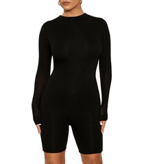 women's naked wardrobe the nw all body long sleeve romper